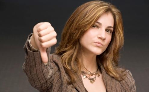 Woman-Thumbs-down