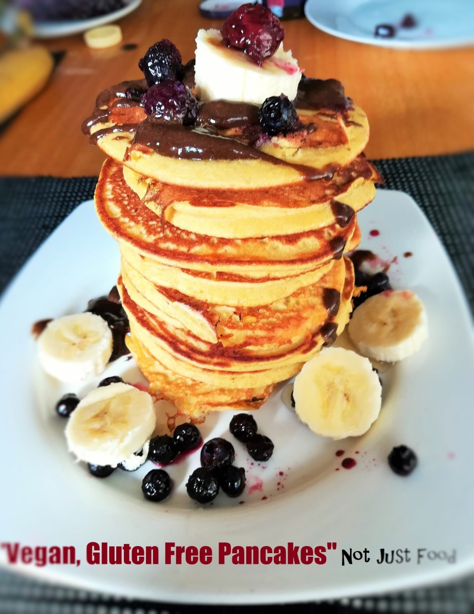 """Vegan, Gluten Free Pancakes"" Not Just Food"